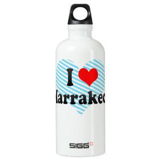 I Love Marrakech, Morocco Aluminum Water Bottle