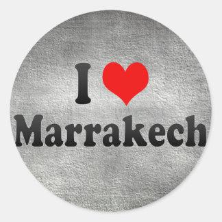 I Love Marrakech, Morocco Classic Round Sticker
