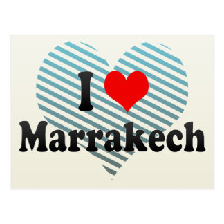 I Love Marrakech, Morocco Postcard