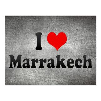 I Love Marrakech, Morocco Postcard