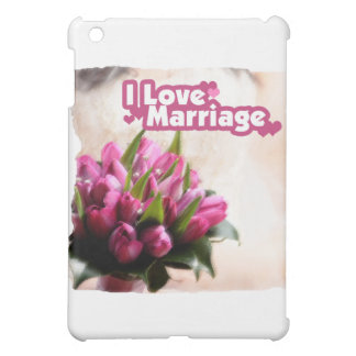 I Love Marriage Beautiful Flowers iPad Mini Cover