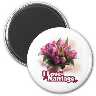 I Love Marriage Matrimony 2 Inch Round Magnet