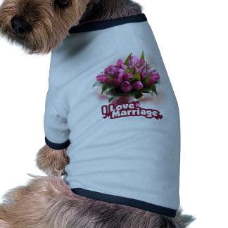 I Love Marriage Matrimony Pet Tshirt