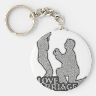 I Love Marriage Will You Marry Me? Keychain