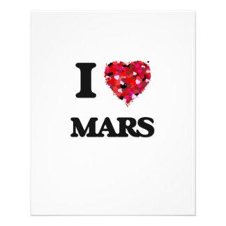"I love Mars 4.5"" X 5.6"" Flyer"
