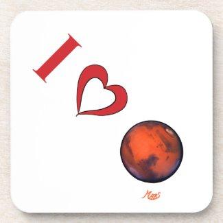 I Love Mars Coaster Set