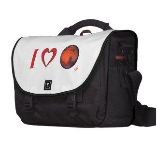 I Love Mars Commuter Laptop Bag