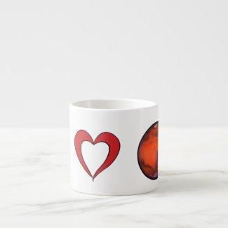 I Love Mars Expresso Mug
