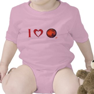 I Love Mars -- Infant Creeper - Pk. Bl. Gr. Wt.