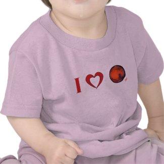 I Love Mars -- Infant T-Shirt - Pk. Bl. Wt. Gr. Y.