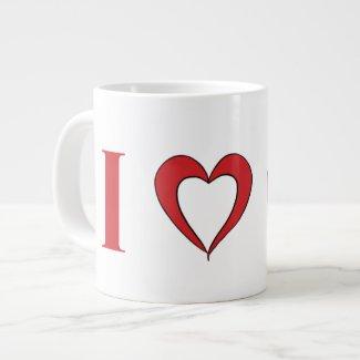 I Love Mars Jumbo Mug -- 20oz.