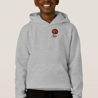 I Love Mars Kid's Hooded Sweatshirt
