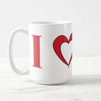 I Love Mars Large Coffee Mug