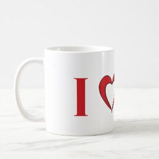 I Love Mars Mug