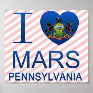 I Love Mars, PA Poster