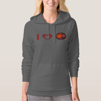I Love Mars Women's Fleece Pullover Hoodie