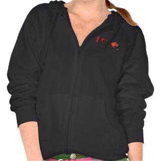I Love Mars Women's Zip Hooded Sweatshirt