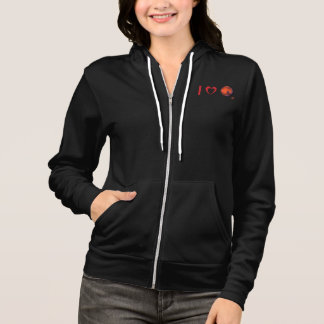 I Love Mars Women's Zip Hooded Sweatshirt