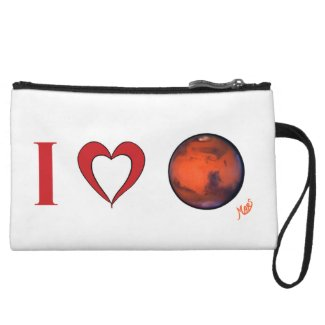 I Love Mars Wristlet