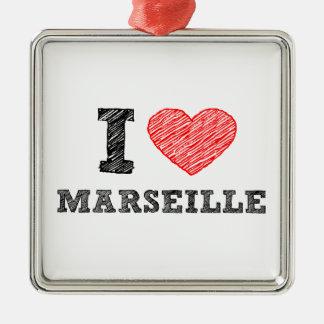 I-love-Marseille Metal Ornament