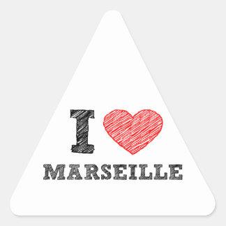 I-love-Marseille Triangle Sticker