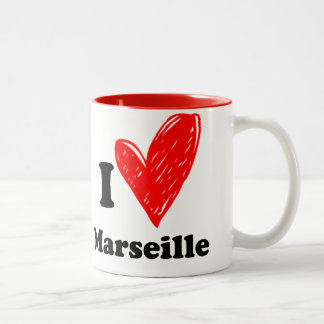 I love Marseille Two-Tone Coffee Mug