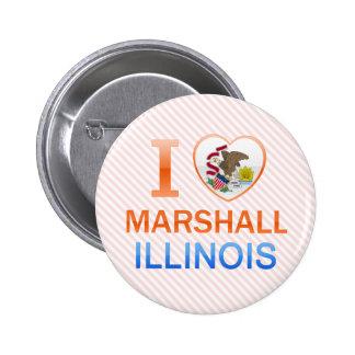 I Love Marshall, IL Button