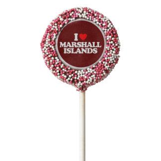 I LOVE MARSHALL ISLANDS CHOCOLATE DIPPED OREO POP