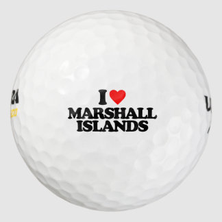 I LOVE MARSHALL ISLANDS GOLF BALLS