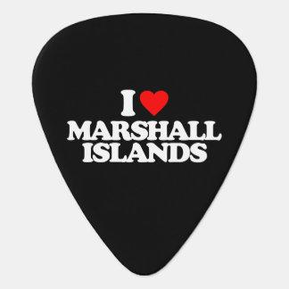 I LOVE MARSHALL ISLANDS GUITAR PICK