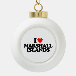I LOVE MARSHALL ISLANDS ORNAMENT