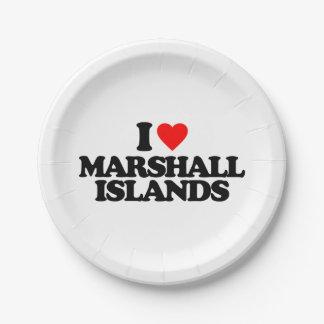 I LOVE MARSHALL ISLANDS PAPER PLATE
