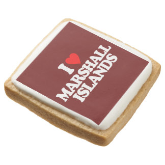 I LOVE MARSHALL ISLANDS SQUARE SHORTBREAD COOKIE