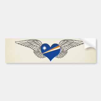 I Love Marshall Islands -wings Bumper Stickers
