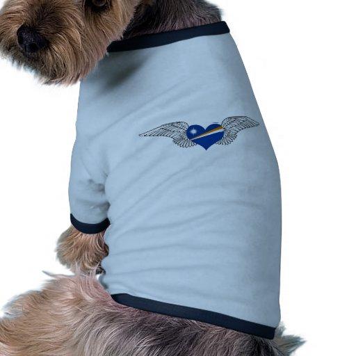 I Love Marshall Islands -wings Dog T-shirt
