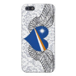 I Love Marshall Islands -wings iPhone 5 Cases