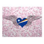 I Love Marshall Islands -wings Postcards