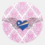 I Love Marshall Islands -wings Sticker