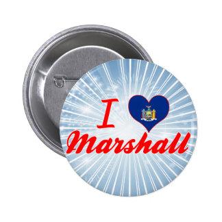 I Love Marshall, New York Pinback Buttons