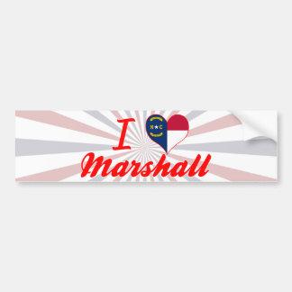 I Love Marshall, North Carolina Bumper Stickers