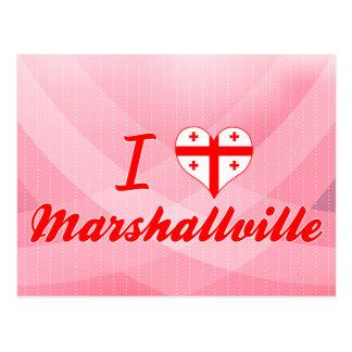 I Love Marshallville, Georgia Postcard