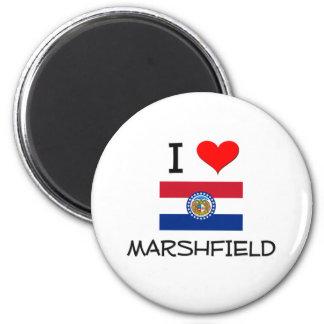 I Love Marshfield Missouri 2 Inch Round Magnet