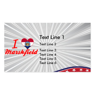 I Love Marshfield, Missouri Double-Sided Standard Business Cards (Pack Of 100)