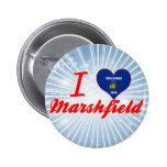 I Love Marshfield, Wisconsin Pinback Button