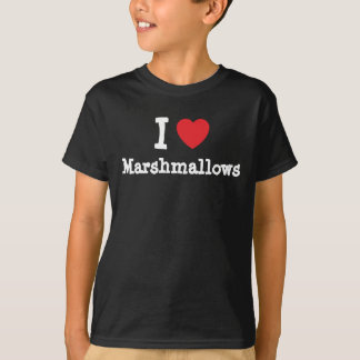 I love Marshmallows heart T-Shirt
