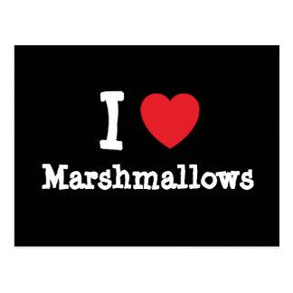 I love Marshmallows heart T-Shirt Postcard