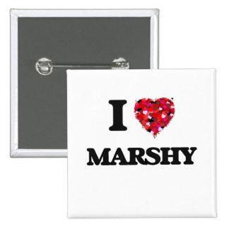 I Love Marshy 2 Inch Square Button