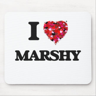 I Love Marshy Mouse Pad