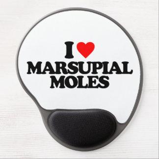 I LOVE MARSUPIAL MOLES GEL MOUSEPADS