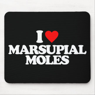 I LOVE MARSUPIAL MOLES MOUSEPAD
